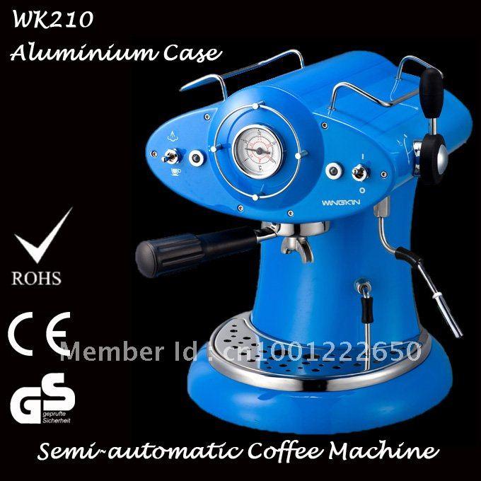 High-end 1L Italian Espresso Semi-automatic Aluminium Electric Coffee Machine for Coffee Powder Free Shipping!! Hot-sale