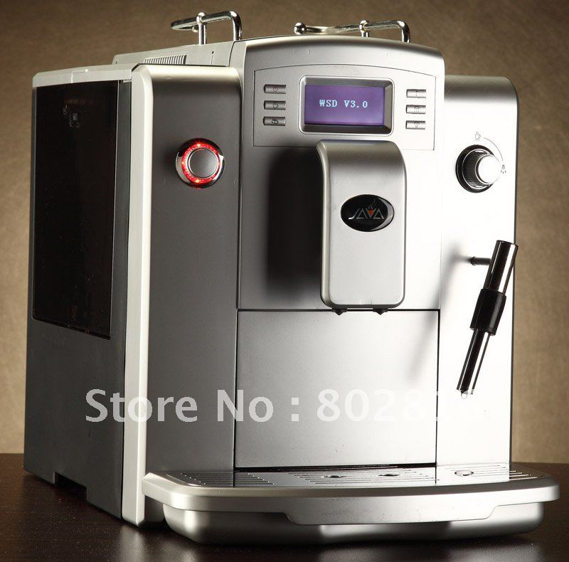 Fully Espresso Cappuccino Coffee Machine+Professional CAPPUCCINO frother+10 languages function+LCD+Free Shipping