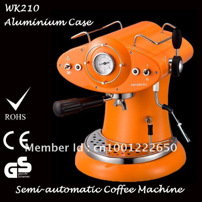 High-end 1L Italian Espresso Semi-automatic Aluminium Coffee Machine Maker for Coffee Powder 9~15 Bar Free Shipping