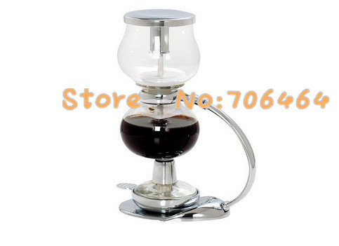 MYMS05  Syphon coffee maker vacuum coffee brewer Siphon coffee machine Balance with stainless steel handle classic design DIY