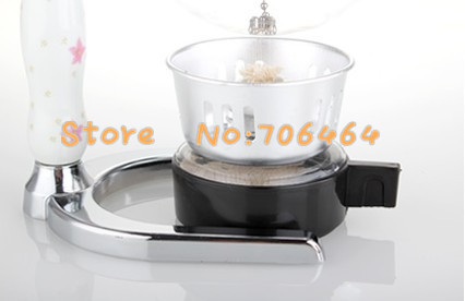 MSC04-5  5 cups Syphon coffee maker vacuum coffee brewer siphon coffee machine with ceramic handle