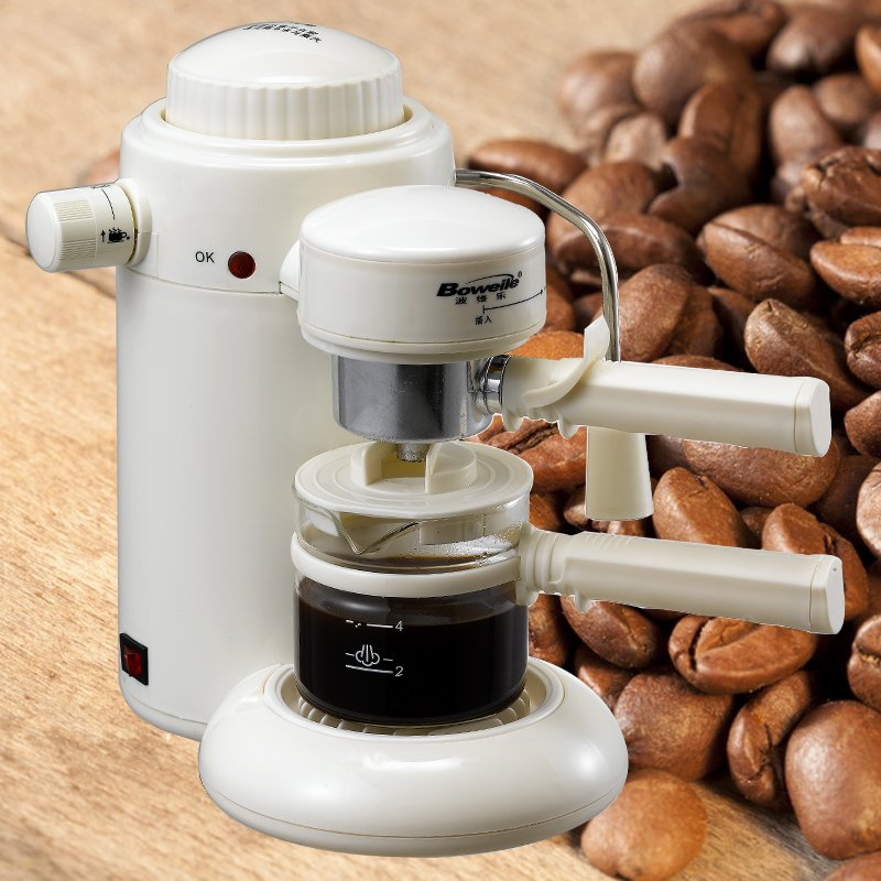 Povey happy home pressure steam semi-automatic coffee machine playing foamed milk powder feeding