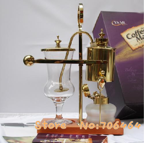 MY3G10 4 CUPS Belgium royal brewer Siphon coffee machine Balance coffee machine with stainless steel classic design