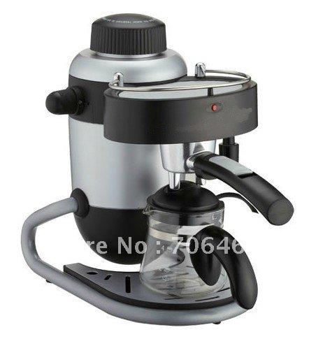 New semi-automatic cappuccino espresso pod unique design protable coffee maker black