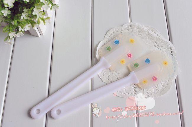 Small flower pattern Large rabbler silica gel drawshave stirring rod cream