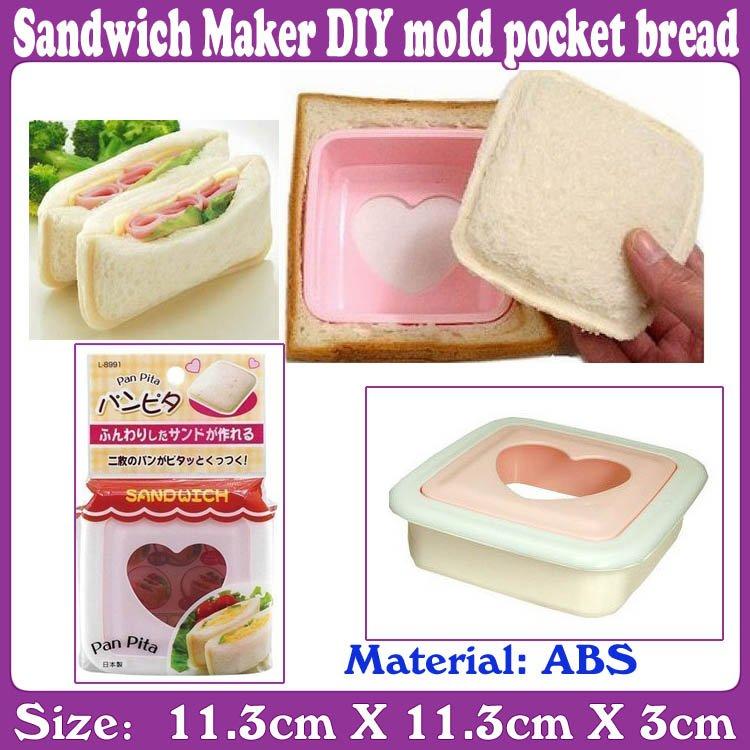 20PCS/lot_Sandwich Maker DIY mold pocket bread_bread maker_Free Shipping