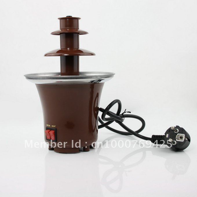Stainless Steel 3-Tier Chocolate Fountain Fondue NEW thanksgiving day gift 1031