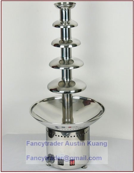 Flash Price 5-Tier Commercial Chocolate Fountains 80cm height Free Shipping FT30044