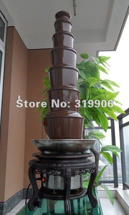 FREE SHIPPING!! BIG HITS! 7 layers chocolate fountain, wedding  fountain, fountain factory , WHOLESALE