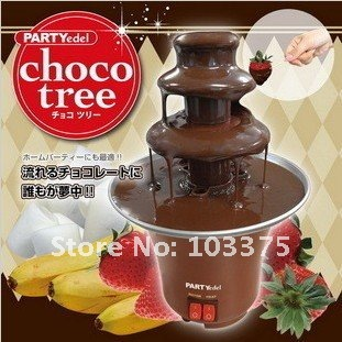 Free Shipping Chocolate Fondue Fountain With 3 Tier Tower 220V 50Hz PC Electronic Component Great Gift For Chocolate Maker