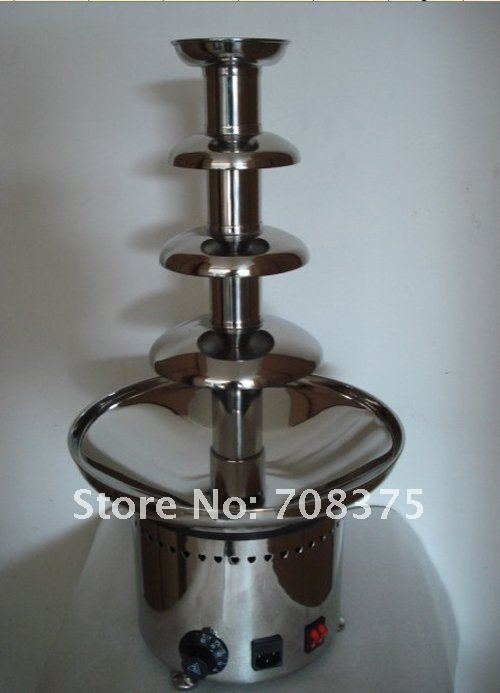 NEW Commercial 4tiers High-grade chocolate fountain hire for buffet dinner wedding celebration ,big party  Free shipping