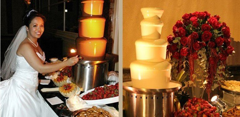 free shipping,new 4 tiers commercial chocolate fountain