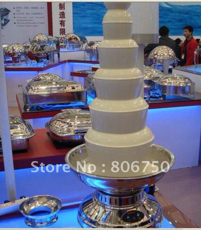 6 Tiers100CM Stainless Steel  Commerical Chocolate Fountain