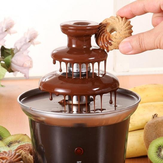 wholesale- free shipping stainless steel  party& home novelty fondue machine chocolate fountain hire