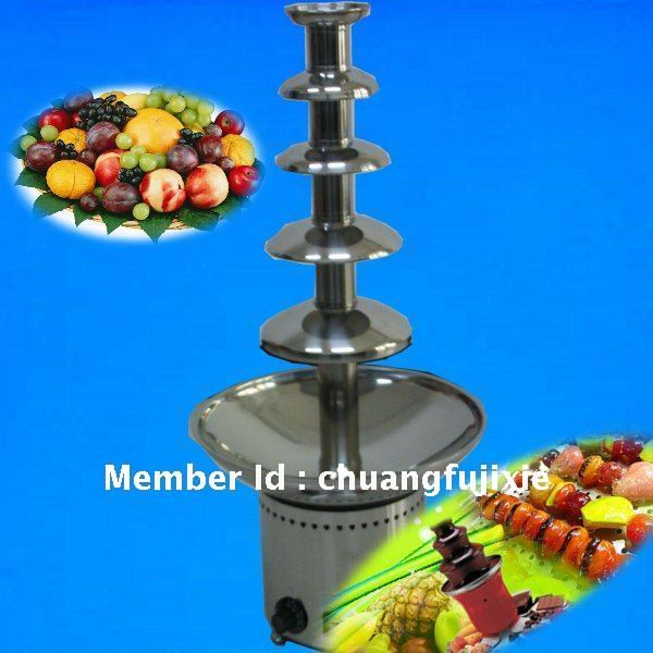 5 tiers stainless steel chocolate fountain