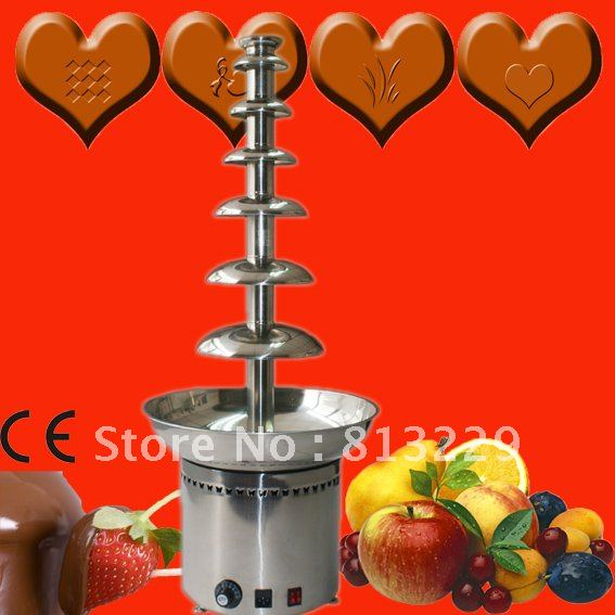 7 Tiers 100CM Stainless Steel Commercial Chocolate Fountain Maker For Hotel Buffet, Party, Feast, Banquet, Wedding Free Shipping