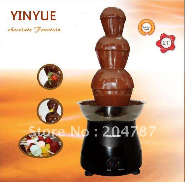Amazing Christmas present! BIG HITS!! 3 layers home chocolate fountain, romantic fountain