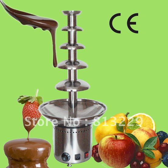 5 Layers 80CM Stainless Steel Electric Chocolate Fondue Fountain Machine Free Shipping