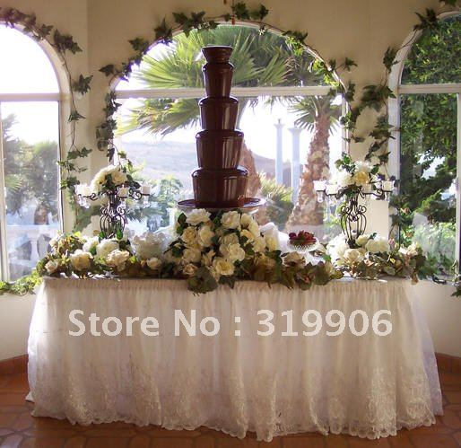 Christmas present! 5 layers chocolate fountain, wedding  fountain, fountain factory , WHOLESALE