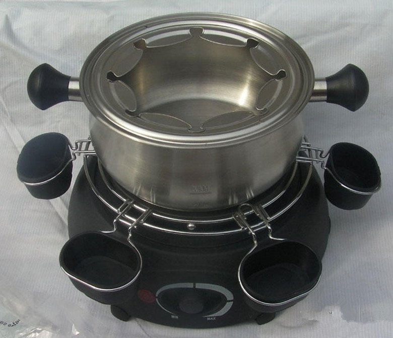 Stainless steel  high-end chocolate fondue European Style electric hotpots the Electric Heat Pots cheese furnace cheese pot