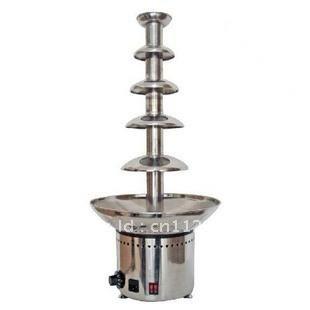 5 layers high-grade stainless steel commercial chocolate fountain 80CM high chocolate machine