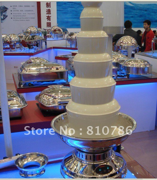 100CM High 6 Layer Stainless Steel Chocolate Fondue Cooker+498W+Wroking Time More Than 12 Hours