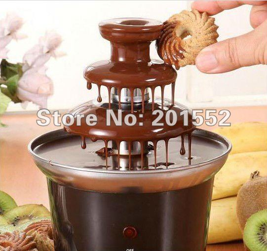 wholesale free shipping Chocolate Fondue Fountain with 3-Tier Tower