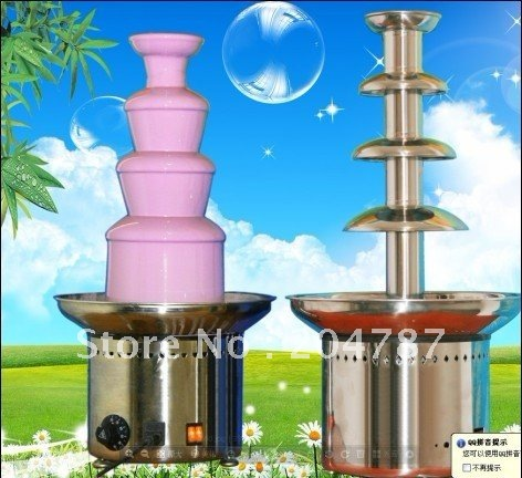 Amazing Christmas present! BIG HITS!! Wholesale Chocolate fountains, 4 layers commercial chocolate fountain