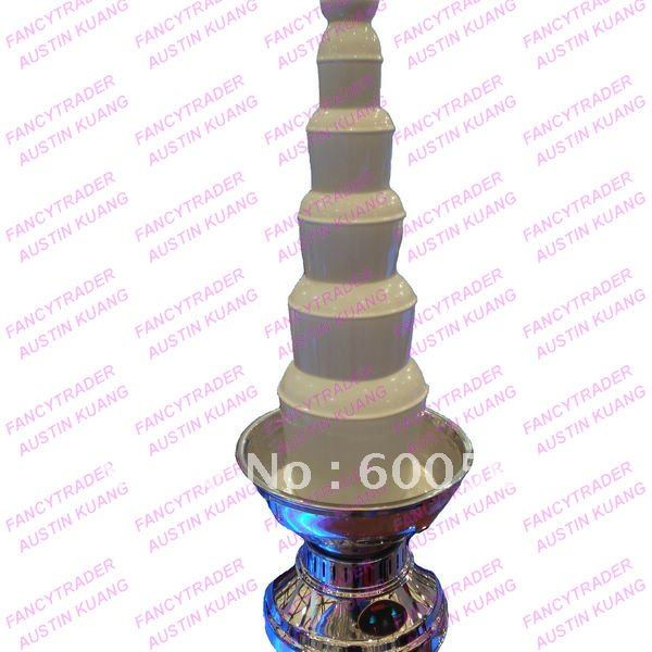 39.5'' New Arrival 6-Tier Largest Commercial Chocolate Fountain 100 cm Free Shipping FT19945