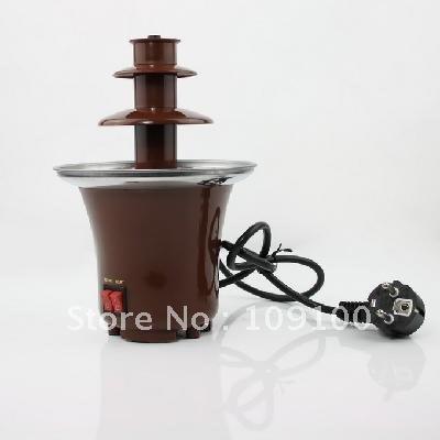 free shipping/tainless Steel 3-Tier Chocolate Fountain Fondue NEW (EU Plug)