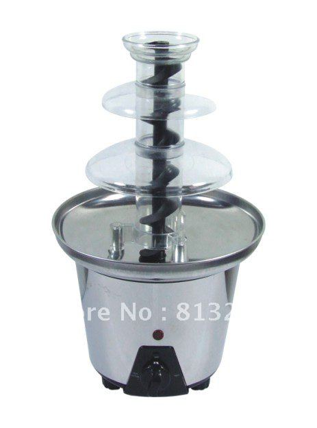 33CM Triple Mini Chocolate Fondue Fountain For Home Use!! YY-833B Free Shipping