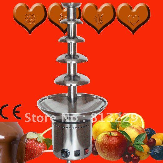 5 Layers 80CM Stainless Steel Chocolate Fondue Fountain Machine Commercial For Buffet, Party, Feast, Wedding!! Free Shipping