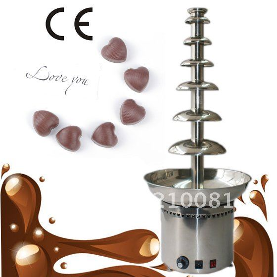 7 Tiers 100CM Stainless Steel Large Electric Commercial Chocolate Fountain Maker Free Shipping