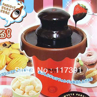 Portable mini Lovely chocolate fountain for Valentine's Day Gift Free Shipping By EMS