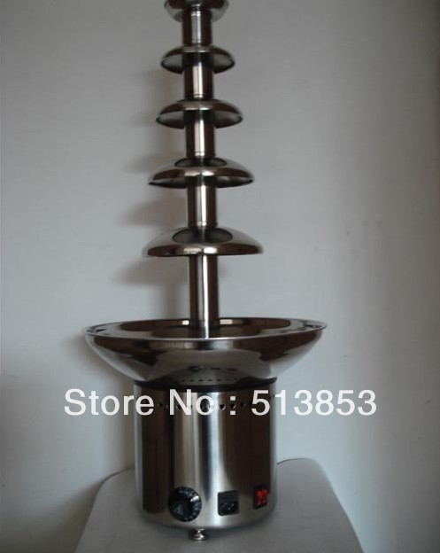 Free shipping 5 tiers Wedding Commerical Chocolate Fountain
