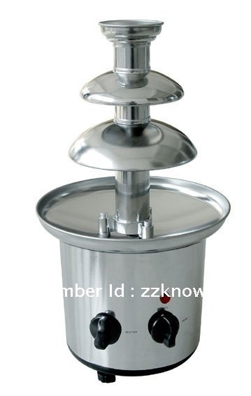 New 304 Stainless Steel, 3 tiers Commercial chocolate fountains,Free Shipping