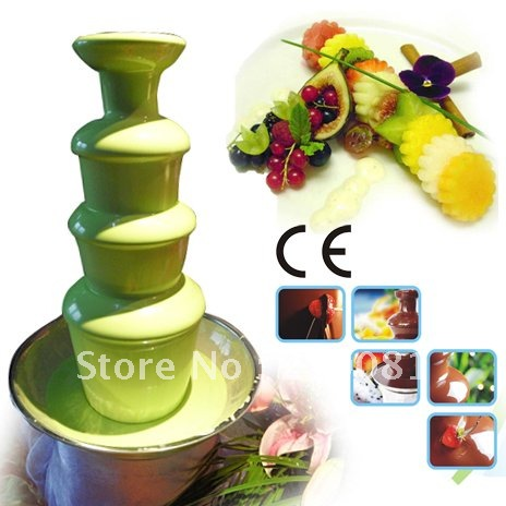 4 Layers 60CM Stainless Steel Electric Chocolate Fountain Maker Commercial Free Shipping Hot-sale