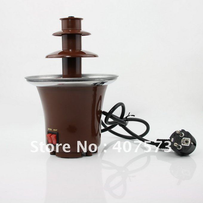tainless Steel 3-Tier Chocolate Fountain Fondue NEW