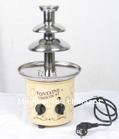 3 layer 39cm high stainless steel chocolate fondue fountain