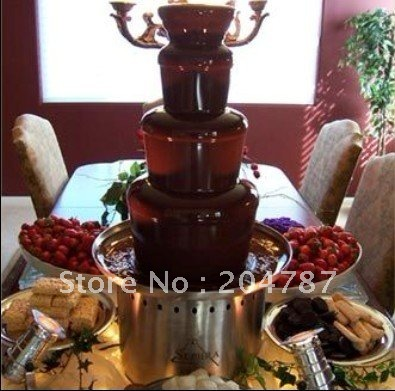 Amazing present! BIG HITS!! 4 tiers stainless steel chocolate fountain for commercial use. wonderful for party and wedding!