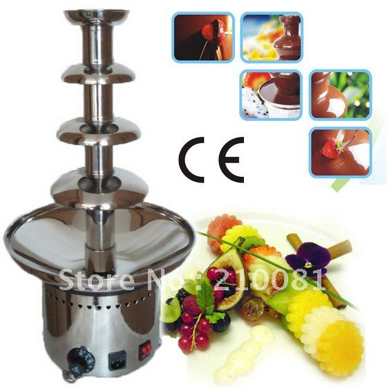 4 Layers 60CM Stainless Steel Chocolate Fondue Fountain Maker Machine Commercial Free Shipping