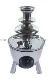 free shiping,SHENTOP  SBL-809A Two head Stainless Steel chocolate fountain, Beautiful Style