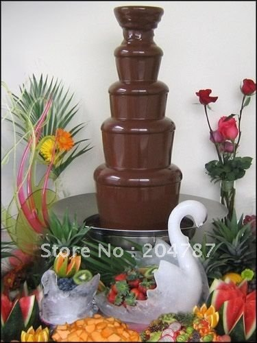 Amazing Christmas present! FREE SHIPPING! 5 layers commercial chocolate fountain,304 stainless steel chocolate fountain,