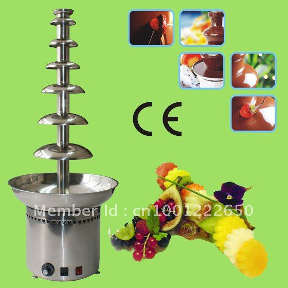 7 Tiers 100CM Stainless Steel Large Commercial Chocolate Fondue Fountain Free Shipping!! Quality Absolutely Guaranteed