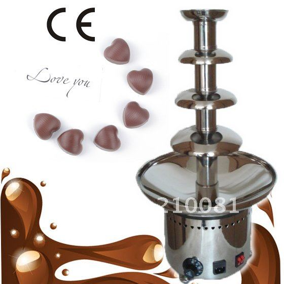 4 Tiers 60CM Stainless Steel Commercial Chocolate Fountain  Free Shipping
