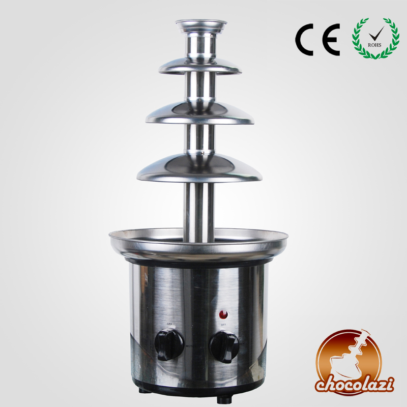 CHOCOLAZI ANT-8045 Auger 4 Layers Stainless Steel Free Shipping Home Stainless Steel Chocolate Fountain Machine