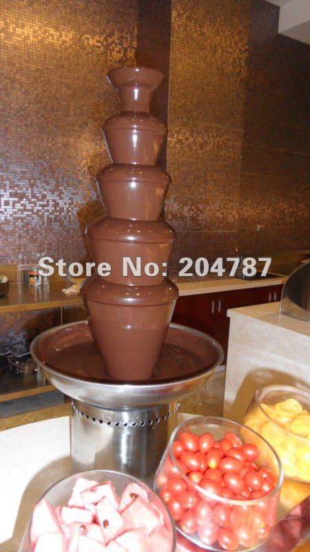 Amazing Christmas present! FREE SHIPPING! 304 stainless steel chocolate fountain, 5 layers commercial chocolate fountain