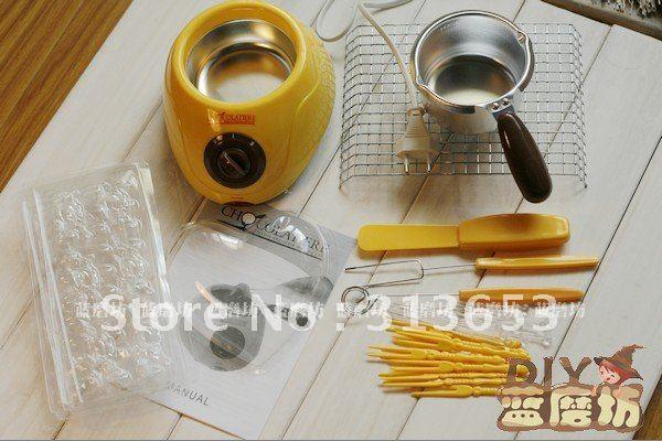 50% DIY MINI chocolate melting pot,chocolate maker melting pot ,chocolate fountain, chocolate tool-free shpping