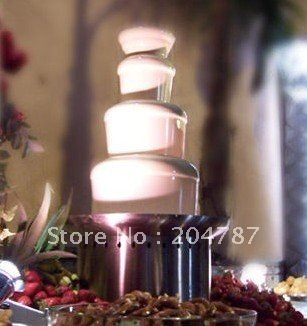 Amazing present! FREE SHIPPING! 4 layers commercial chocolate fountain,wedding fountains, 304 stainless steel chocolate fountain