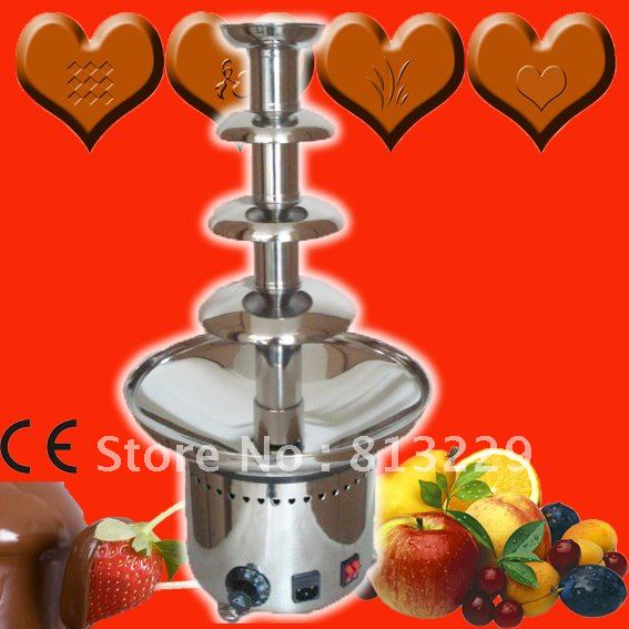 Stainless Steel Electric Chocolate Fountain Machine Commercial 60CM 4 Layers!! Free Shipping